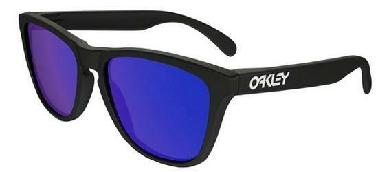 OAKLEY 9013 FROGSKINS 24-298 MATTE BLACK VIOLET  IRIDIUM SUNGLASSES SOLE NERO