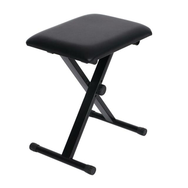 High Quality Portable Piano Keyboard Music Folding Adjustable Padded Stool Chair Seat  Bench