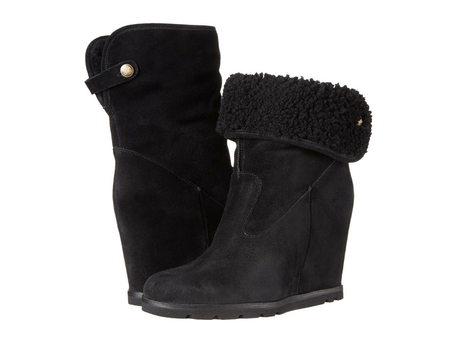 Womens Boots UGG Kyra Black Suede