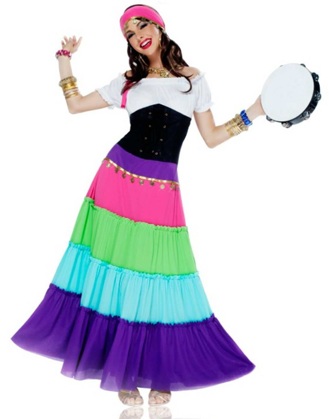 Bohemian Gypsy Esmeralda Renaissance Dress Adult Plus Size Costume