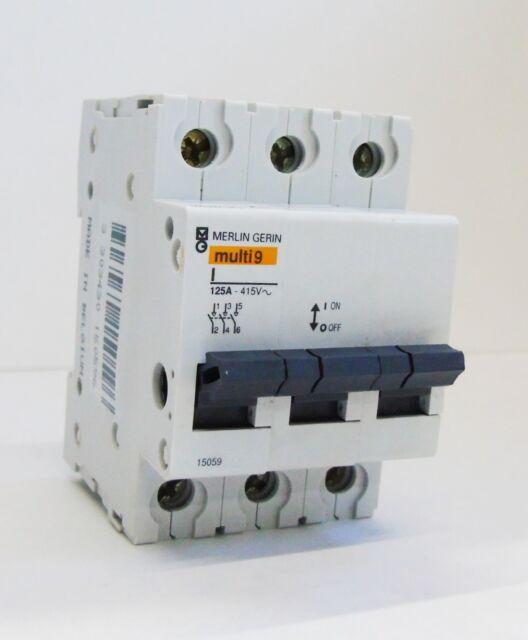 Merlin GERIN Multi 9 15059 Type 125a Triple Pole Switch Disconnector ...