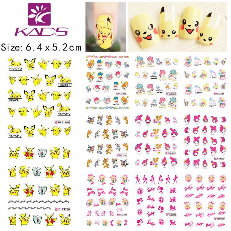 11 Sheets Cute Cartoon Nail Art Sticker Water Slide Tattoo Ble1786 ...
