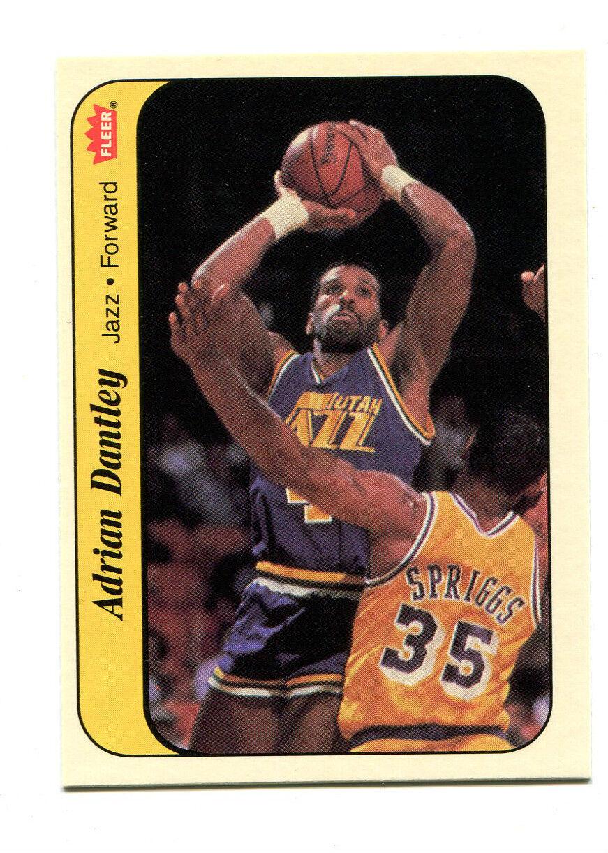 1986 Fleer Adrian Dantley 3 Basketball Card