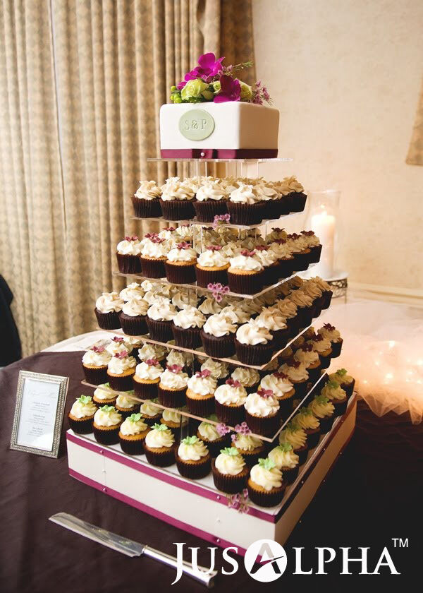 Large 7 Tier Wedding Party Cupcake Cake And Dessert Tower