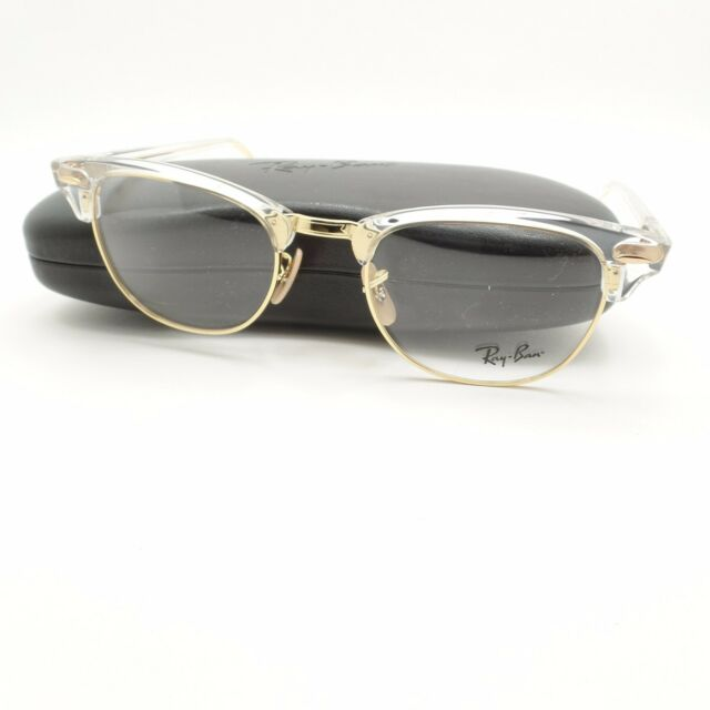 Ray-Ban Glasses Frames 5154 Clubmaster 5762 Transparent 51mm Mens ...