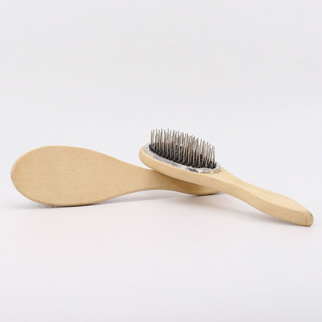 Handle Wood Loop Pin Cushion Brush For Hair Extension Care Wig Anti