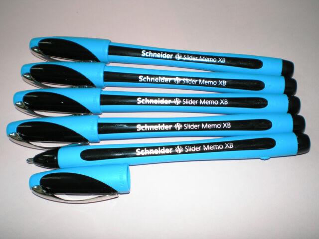 5 x Schneider Slider Memo XB schwarz 150201 Kugelschreiber Viscoglide Technology