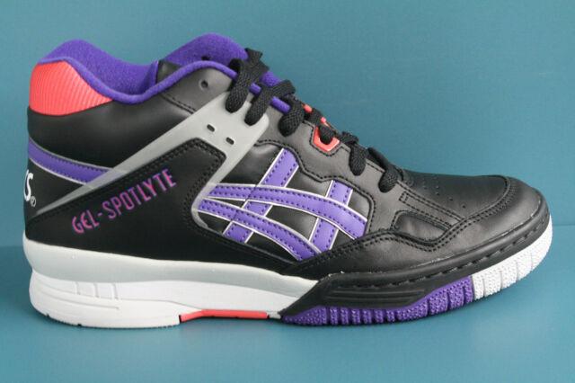 H419L-9030 Men's Asics Gel-Spotlyte Black-Purple Isiah Thomas AUTHENTIC ...