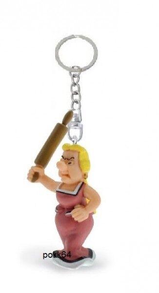 asterix und Obelix Schlüsselanhänger bonnemine rouleau à Backen 5 cm Figürchen