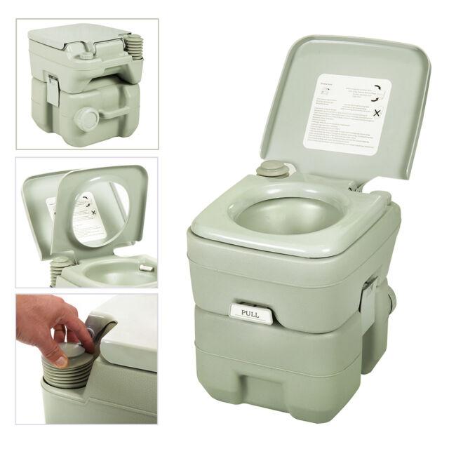 United Portable Toilet : Gallon l portable toilet flush travel camping commode