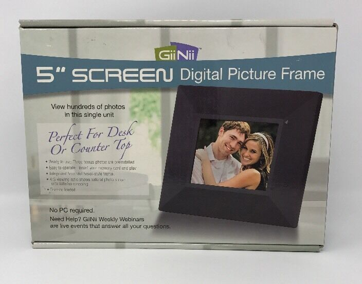 GiiNii Gn-501 Slope Digital Picture Frame - 5 Inch 4 3 Screen Ratio ...