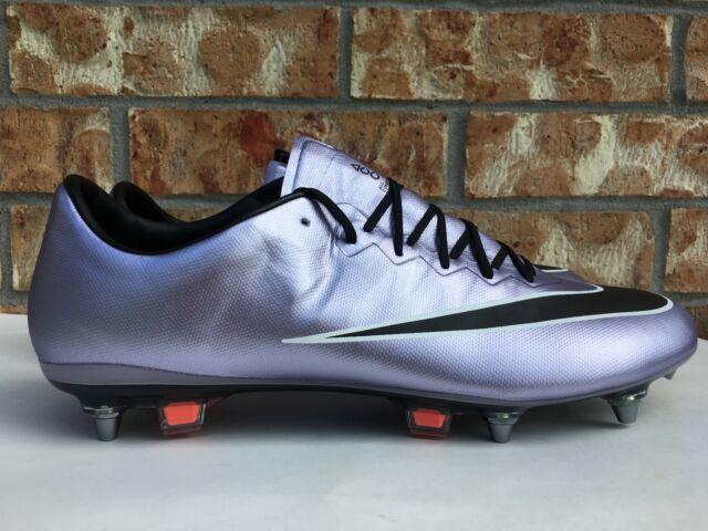 Men's Nike Mercurial Vapor X SG-Pro Soccer Cleats Lilac Purple Black  648555-581