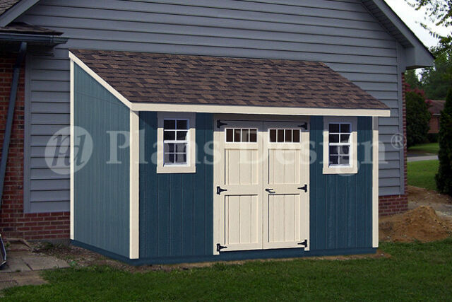 8u0027 X 14u0027 Backyard Deluxe Storage Shed Plans, Lean To Roof Style