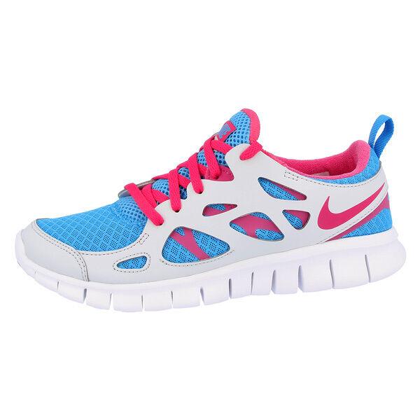 Nike Free Run 2.0 GS Scarpe da corsa blu rosa grigio 477701400