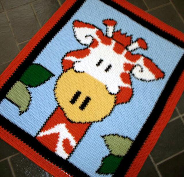 Crochet Patterns Zoo Animal Giraffe Color Graph Pattern Ebay