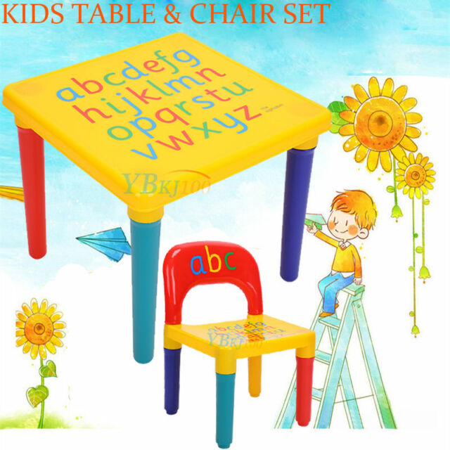 New Kids Table Chairs Play Set Toddler Child Toy Activity Furniture In Outdoor