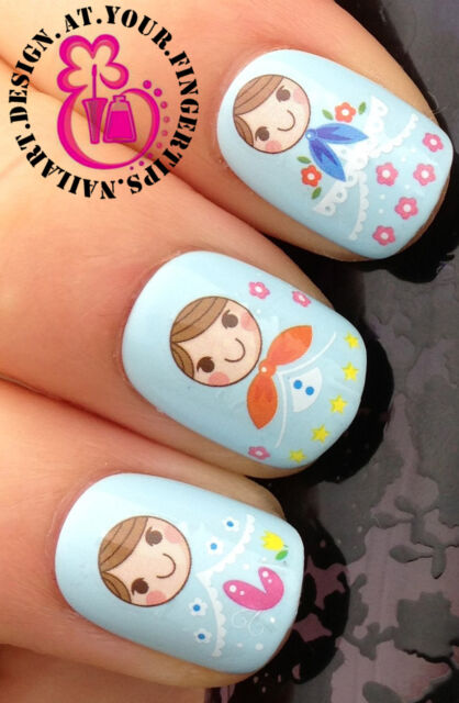 Nail Art Wrap Water Transfers Stickers Decals Set Russian Dolls
