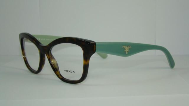 new prada vpr 29r 2au 1o1 havana green glasses eyeglasses frames size 52 - Ebay Eyeglasses Frames