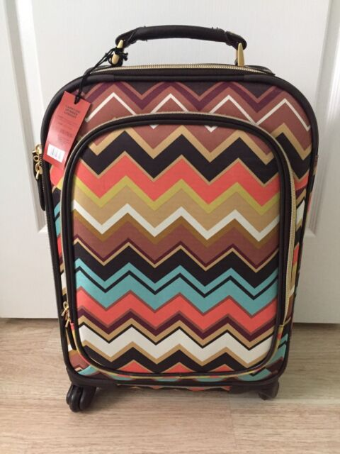 Nwt Missoni For Target Carry On Spinner Upright Bag Luggage Wheels Roller Rare