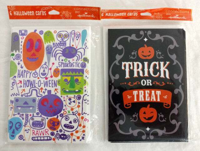 Halloween hallmark greeting cards 12 trick treat pumpkin monster halloween hallmark greeting cards 12 trick treat pumpkin monster spider holiday m4hsunfo