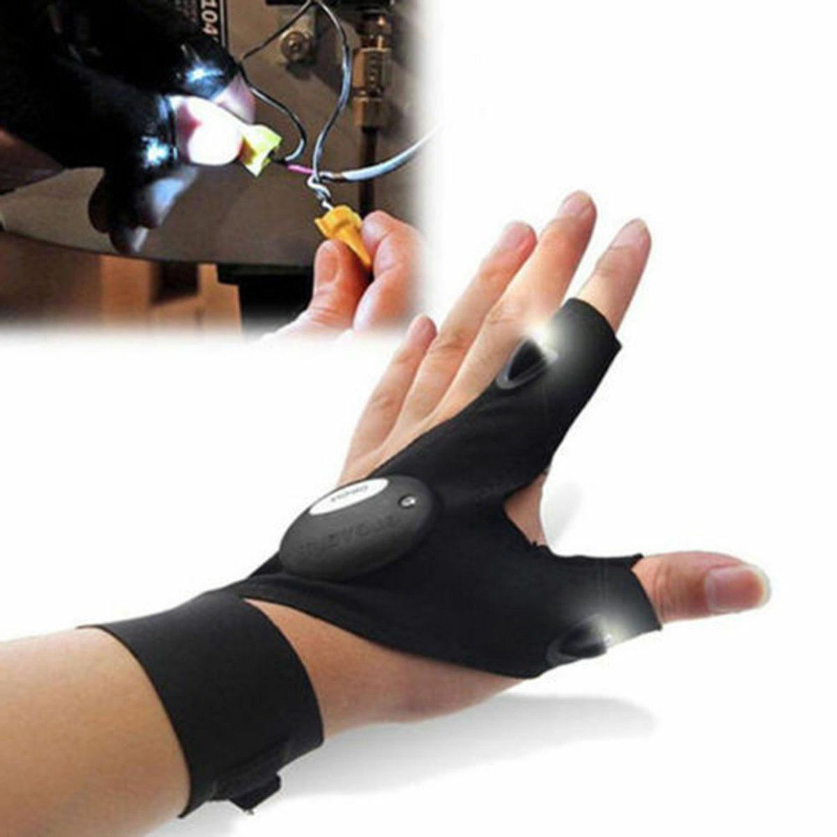 Finger glove with led light flashlight tools outdoor gear rescue picture 12 of 14 mozeypictures Images