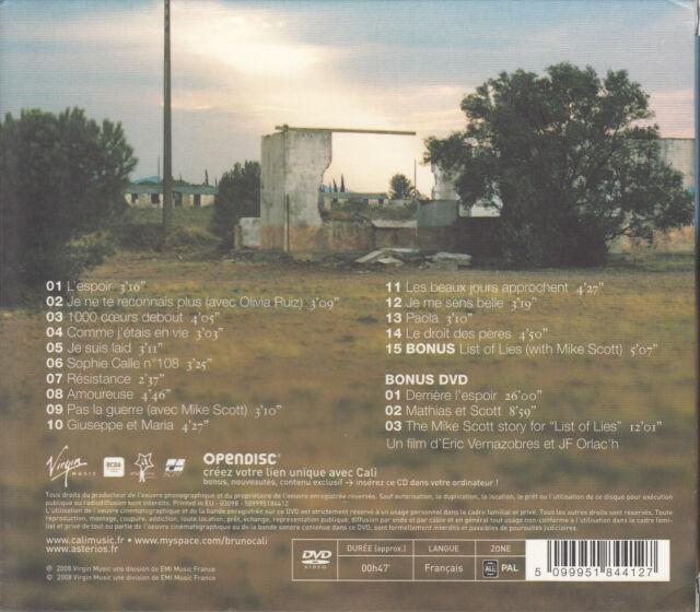Cali - L'espoir Edition Limitée CD+DVD (NEU)