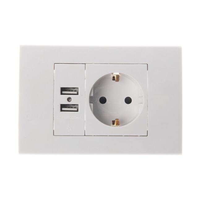 Wall Power Socket EU Plug 16a Electrical Outlet 1000ma Dual USB ...