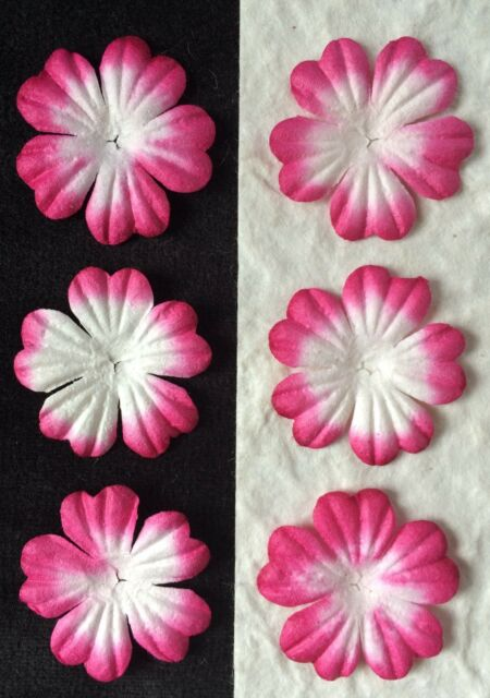 20 hot pink handmade mulberry paper flowers petals fuchsia 20 hot pink handmade mulberry paper flowers petals fuchsia embellishment card 1 mightylinksfo