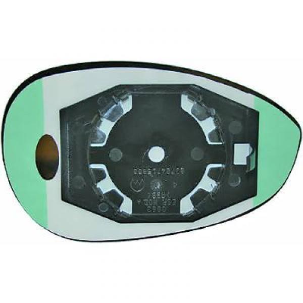 Glas Spiegel linker Tür Rückpiegel FIAT 500 07- konvex