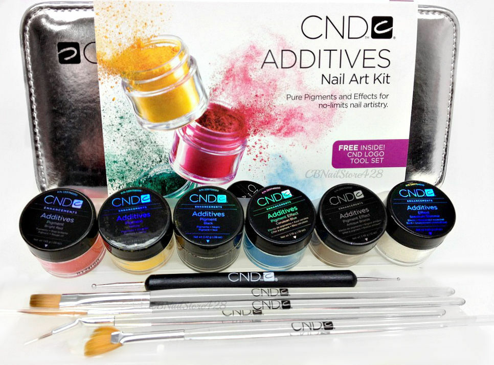 CND Color Additives 6 Additives Logo Tool Set Nail Art Kit | eBay