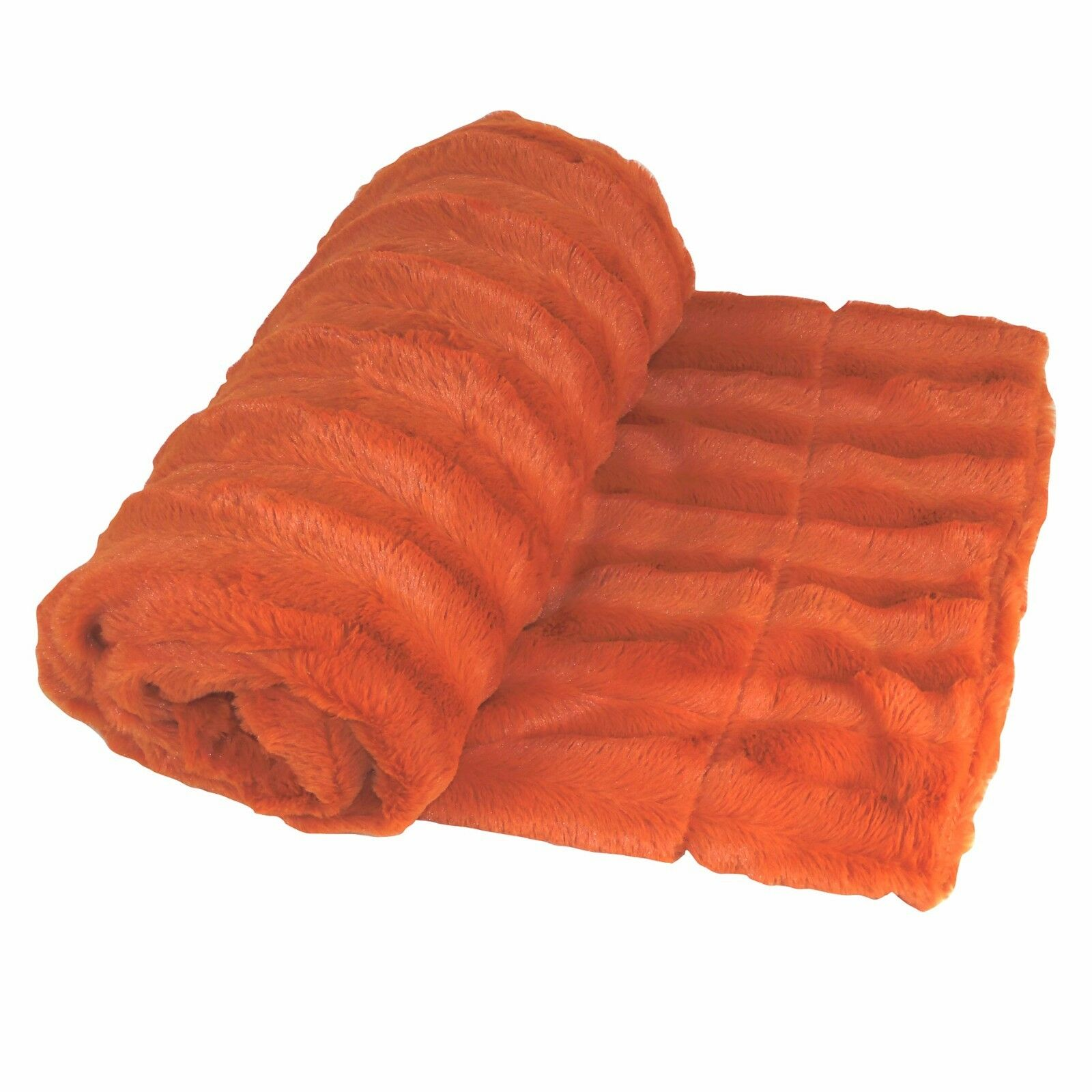 Boon Derby Double Sided Faux Fur Throw 20in X 20in Burnt Orange ...