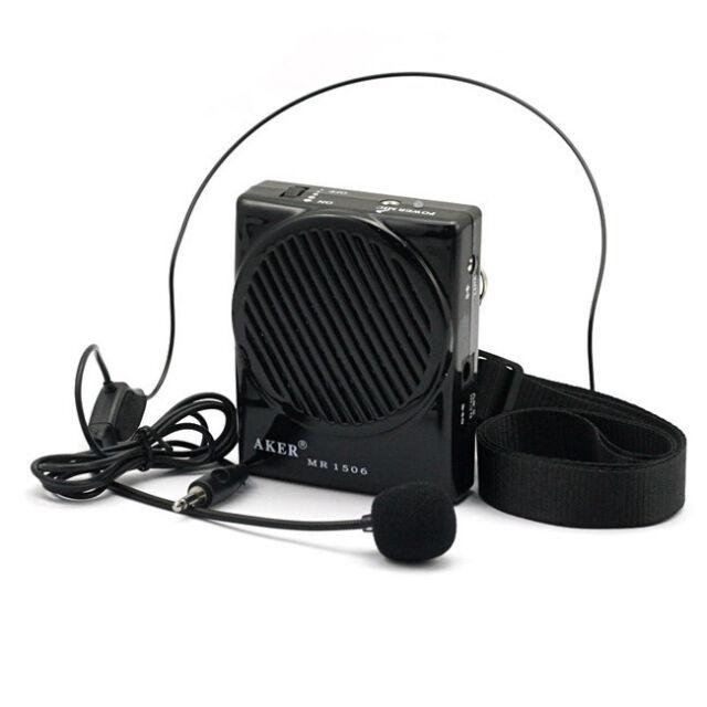 Aker MR1506 10W Ultra-thin Portable Loud Voice Booster Amplifier AMP Speaker