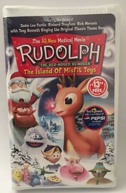 Rudolph Red-Nosed Reindeer The Island Of Misfit Toys Movie VHS Tape & Music  CD