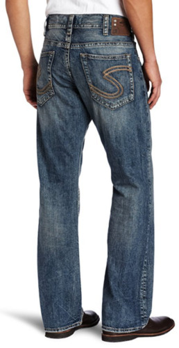 c0ec7689 SILVER Jeans Sale Buckle Thick Stitch Mid Zac Relaxed Straight Leg Jean 40  x 29