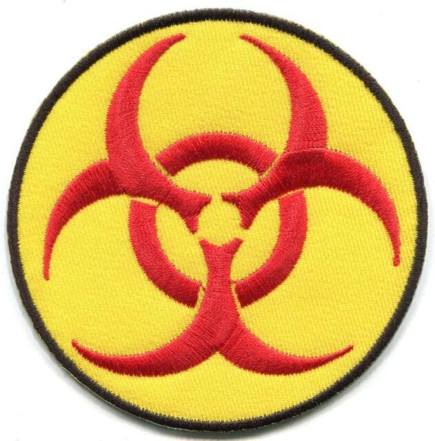 Biohazard Symbol Sign Danger Toxic Poison Alert Applique Iron On
