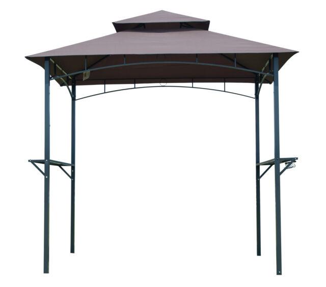 BBQ Canopy Tent Barbecue Gazebo Grill Outdoor Shelter Yard Sun Shade 8Ft 2-tier  sc 1 st  eBay & BBQ Canopy Tent Barbecue Gazebo Grill Outdoor Shelter Yard Sun ...
