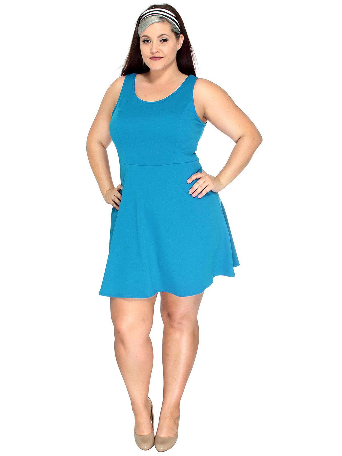 Plus Size Women Dress Casual Party Evening Sleeveless Short Mini ...