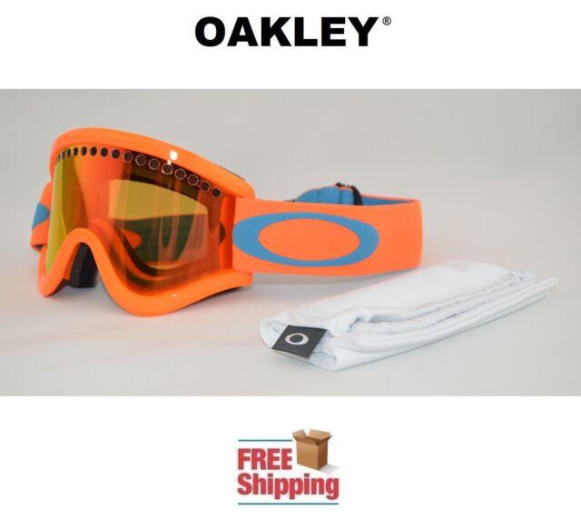 Oakley E Frame Snow Goggles Dual Lens Snowboard Ski Neon Orange W ...