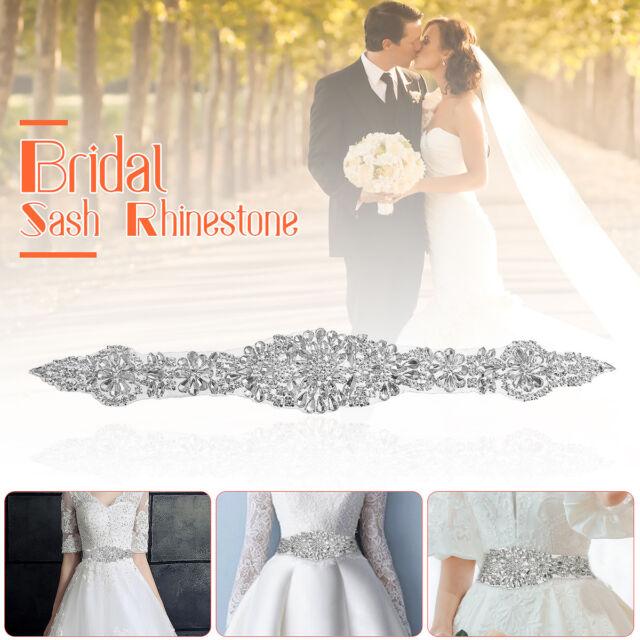 DIY Crystal Rhinestone Applique Sewing Wedding Bridal Belt Sash ...