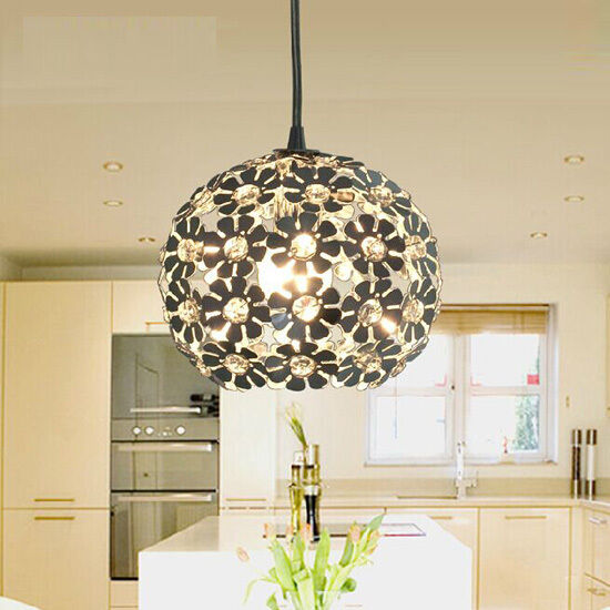 Crystal Flower Ceiling Light Pendant Lamp Fixture Lighting Bedroom  Chandelier