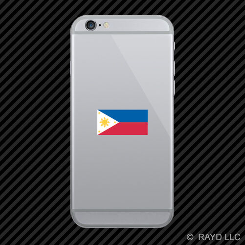 Filipino flag cell phone sticker mobile die cut philippines pinoy star sun