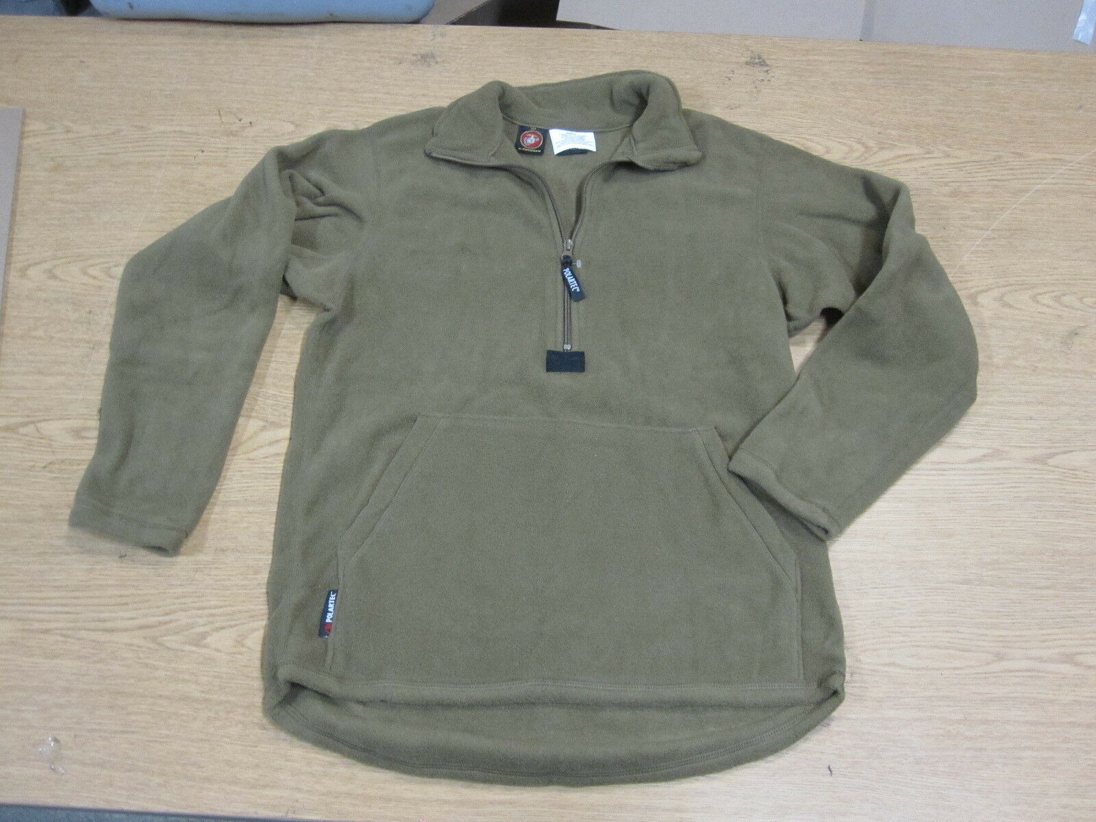 Small Military USMC Polartec Fleece Half Zip Pullover Coyote Brown ...