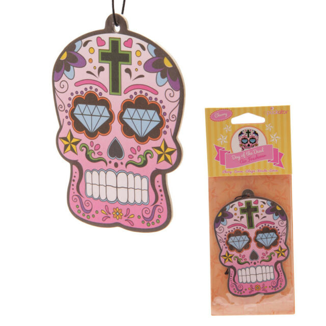 Candy Skull Car Air Freshener Cherry Scented home van Novelty Hanging Freshner