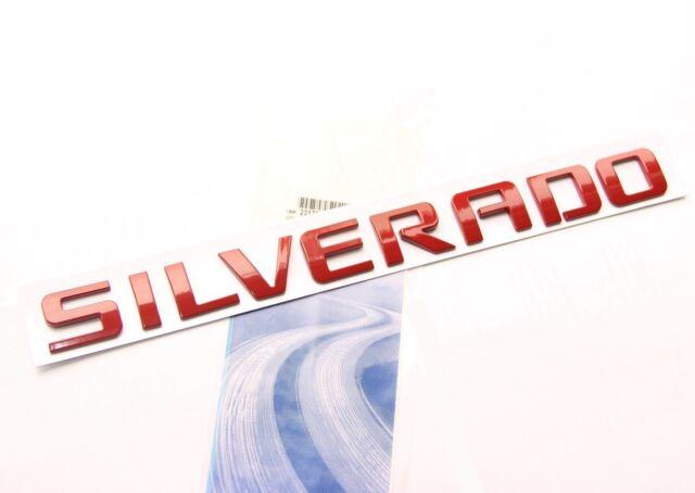 Chevy Silverado Letters Emblem Symbol Logo Chrome Badge Oem Ebay