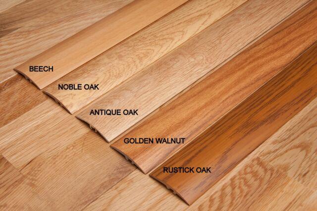 Aluminium 12 Colours Wood Effect Door Edging Floor Trim Threshold 40mm Laminate