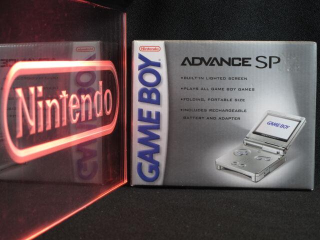 Nintendo Game Boy Advance SP Platinum System NIB New in Box Factory Sealed RARE