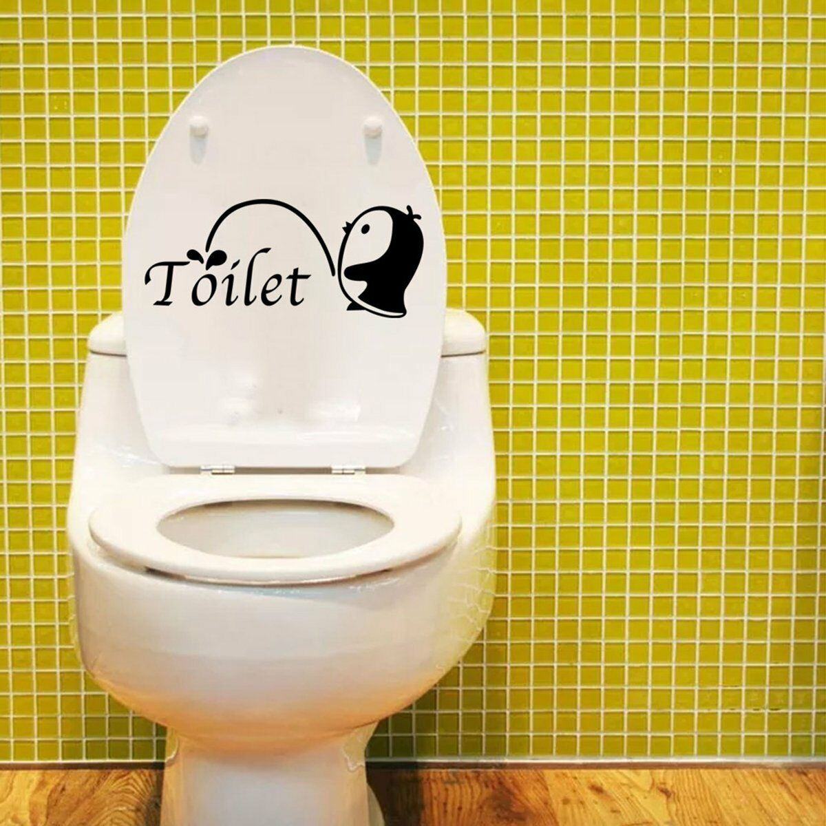 Removable DIY Toilet Seat WC Bathroom Art Vinyl Home Decals Decor ...