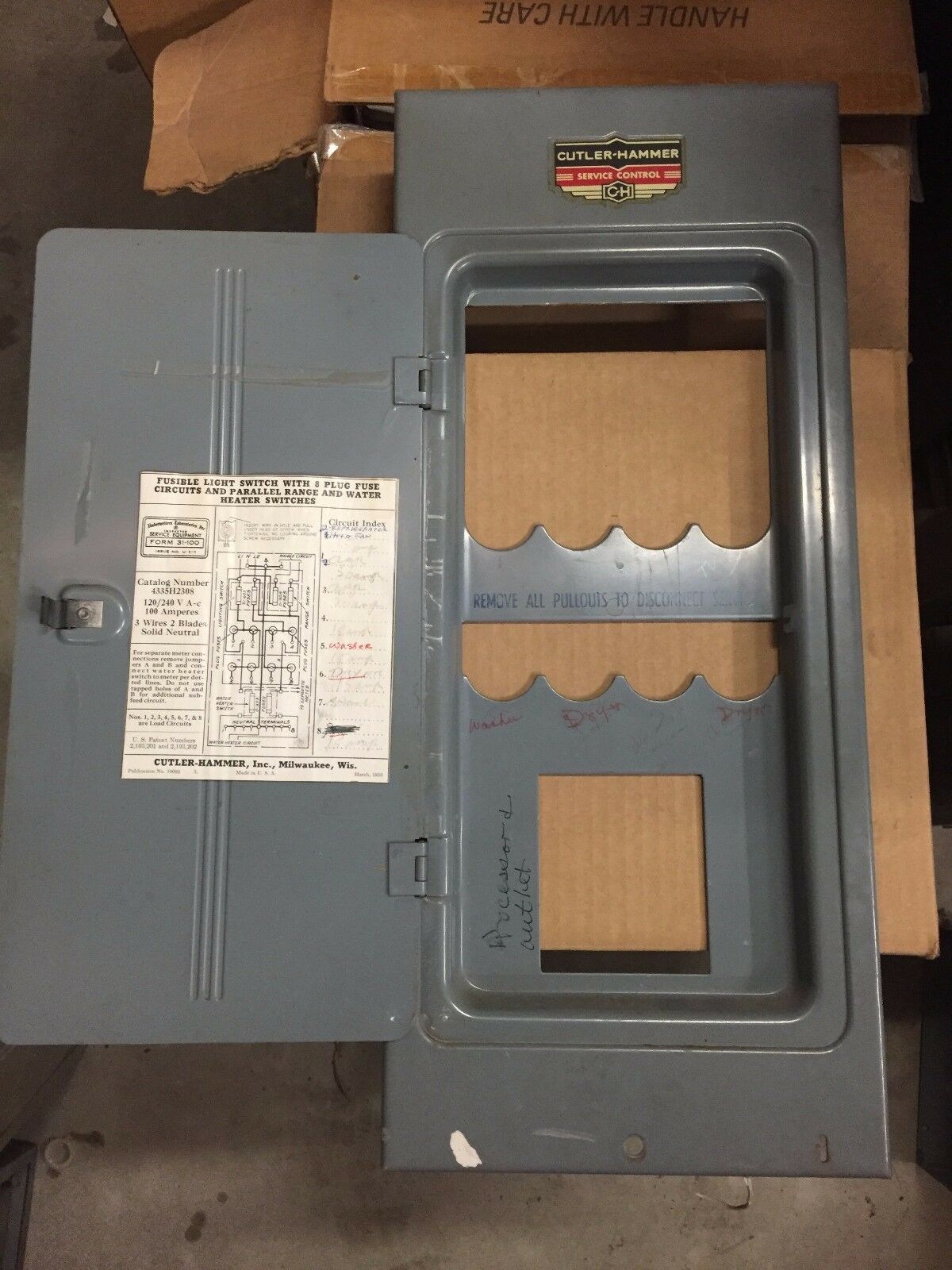 Swtich Fuse Panel Cover - Wiring Circuit •