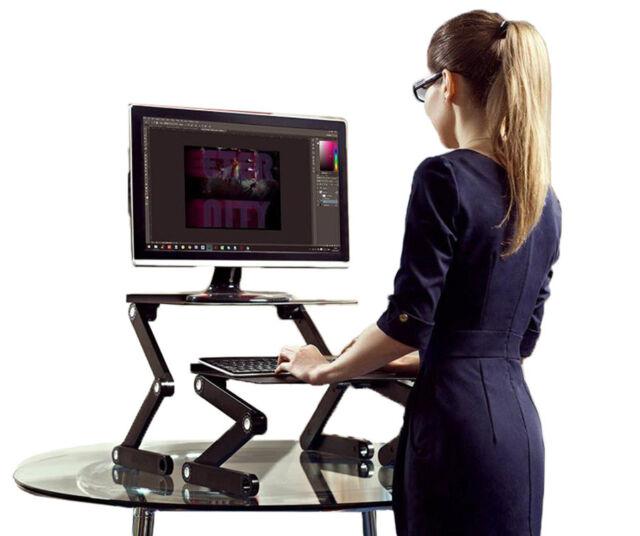 Workez Standing Desk Conversion Ergonomic Adjule Sit Stand Converter Riser