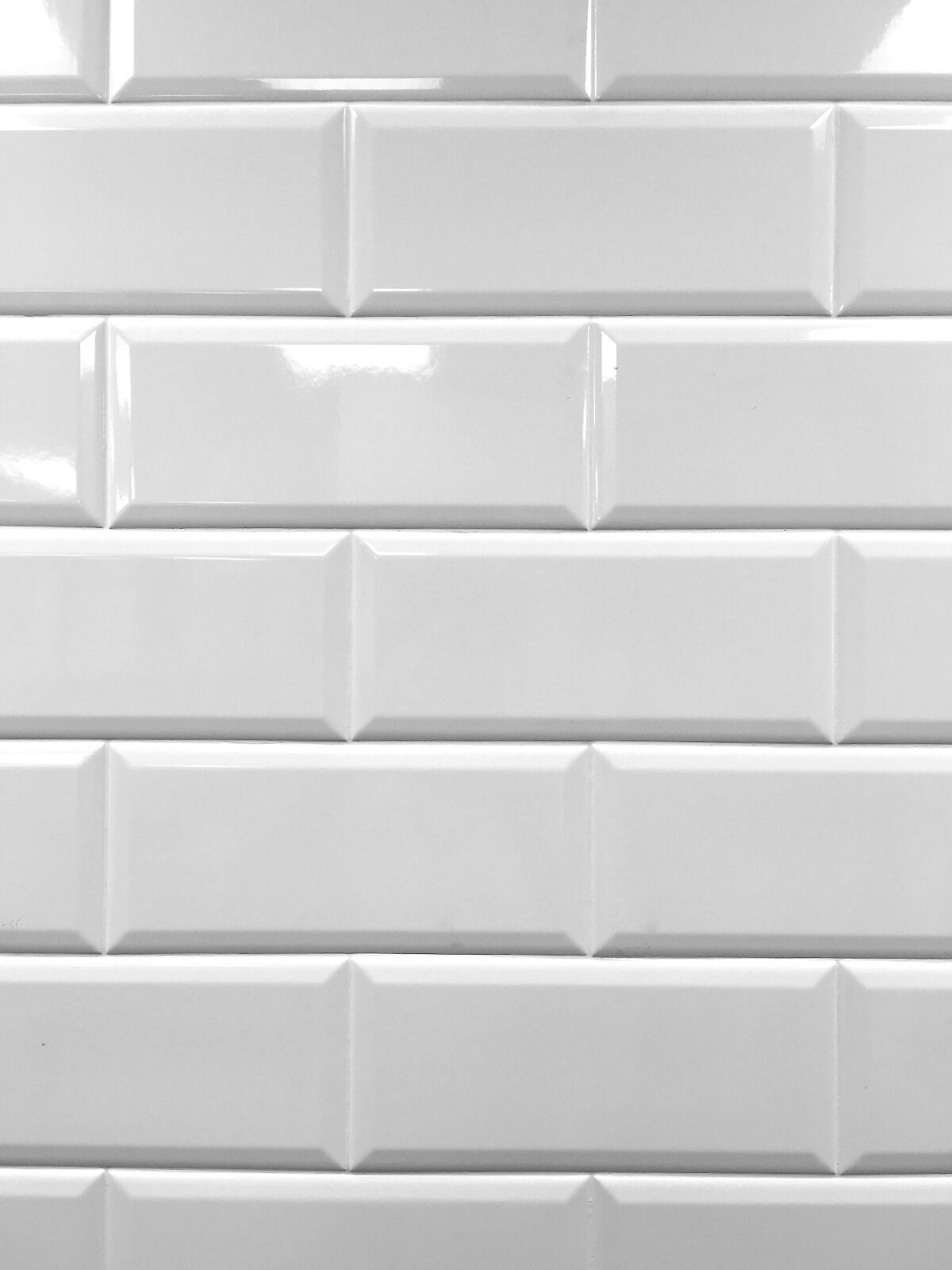 White 4x10 beveled shiny ceramic subway tile backsplash wall brand new lowest price doublecrazyfo Images